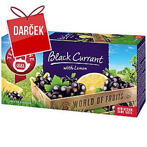 Čaj Teekanne čierne ríbezle, 20 vrecúšok à 2,5 g