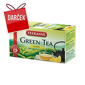 Čaj Teekanne zelený s citrónom, 20 vrecúšok à 1,75 g