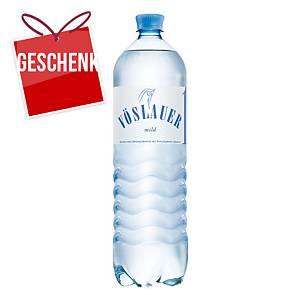 Vöslauer Mineralwasser, mild, 1,5 l, 6 Stück