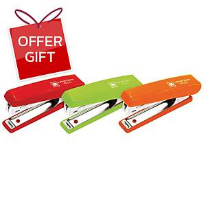 ELEPHANT HS-E10 STAPLER ASSORTED NEON COLOURS
