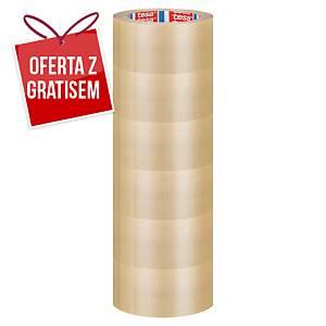Taśma pakowa tesa 4120 PVC 66 m x 50 mm, przezroczysta, w opakowaniu 6 sztuk