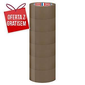 Taśma pakowa tesa 4120 PVC 66 m x 50 mm, brązowa, w opakowaniu 6 sztuk