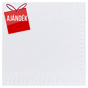 Duni fehér szalvéta, 2-rétegű, 33 x 33 cm, 125 darab/csomag