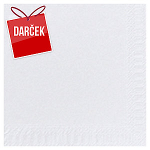 Servítky Duni 2-vrstvové, biele, 33 x 33 cm, 125 ks