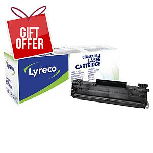 LYRECO LAS CART COMPT HP CE278A BLK