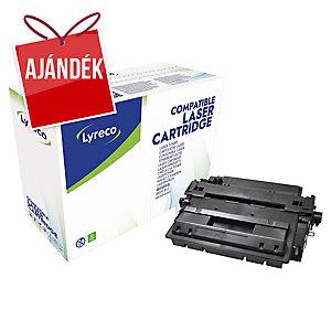 Lyreco kompatibilis HP CE255XX jumbo toner lézernyomtatókhoz, fekete