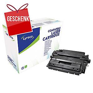 Toner Lyreco kompatibel mit HP CE255XX, Reichweite: 24.000 Seiten, schwarz