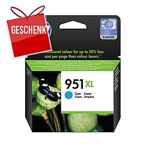 Tintenpatrone HP CN046AE - 951XL, Reichweite: 1.500 Seiten, cyan