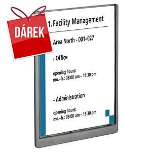Informační tabulka na dveře Clicksign, A4, 210 x 297 mm, transparentní
