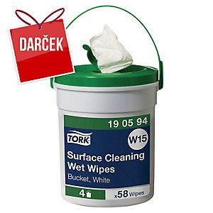 Vlhčené utierky na čistenie povrchov Tork Premium 190594, 58 ks