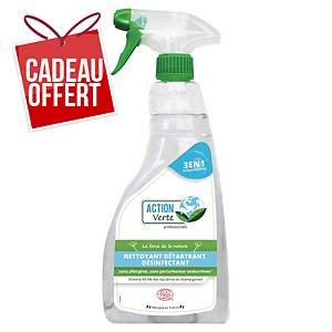 Nettoyant désinfectant multi-surfaces Action Verte - Ecocert - spray de 500 ml