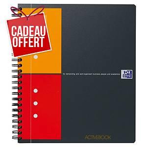 Cahier spirale Oxford Activebook A5+ - 160 pages - quadrillé