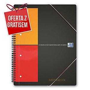Kołonotatnik OXFROD MEETINGBOOK A5+, 80 kartek, ciemnoszary