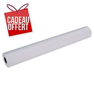 Papier non couché - 90 g - blanc - rouleau 914 mm x 91 m - par 3