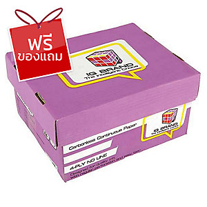 IQ กระดาษต่อเนื่องเคมี 4 ชั้น 9X5.5 นิ้ว 1 กล่อง บรรจุ 1000ชุด
