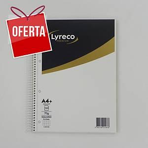 Caderno espiral Lyreco Premium - A4 - 120 folhas - quadriculado