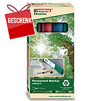 Permanent Marker Edding Ecoline 21, Rundsp., Strichbreite 1,5-3 mm, 4er-Set, ass