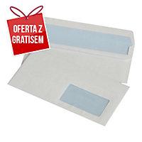 Koperty samoklejące prawe okno DL NC KOPERTY, białe,  50 sztuk