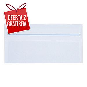 Koperty samoklejące DL NC KOPERTY, białe, 1000 sztuk