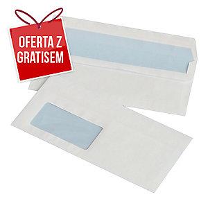 Koperty samoklejące lewe okno DL NC KOPERTY, białe, 1000 sztuk