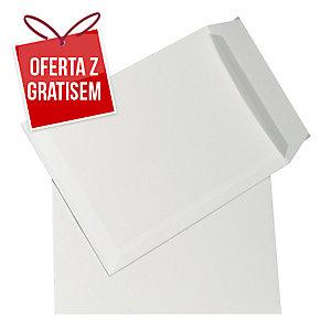 Koperty z paskiem B4 NC KOPERTY, białe, 50 sztuk