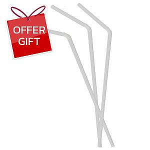 Straw Flexible 24 Centimetres Pack of 200