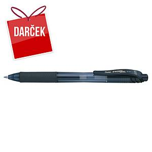 Gélové pero Pentel Energel X BL107, klikacie, 0,7 mm, čierne