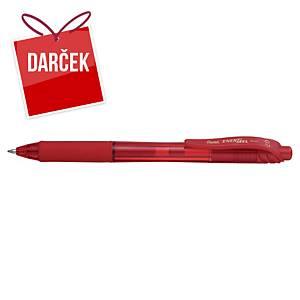 Gélové pero Pentel Energel X BL107, klikacie, 0,7 mm, červené
