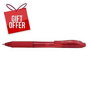 Pentel Energel BL107 Retractable Gel Ink Rollerball Pen Red - Box of 12