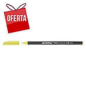 Marcador de ponta de fibra EDDING 1200  cor amarelo neón