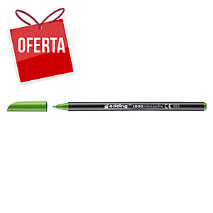 Marcador com ponta de fibra EDDING 1200 cor verde pistacho
