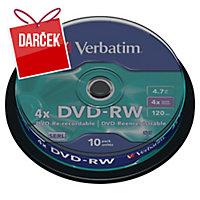Štandardné DVD-RW, zásobník, 10 ks/balenie