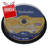 Štandardné DVD+RW zásobník, 10 ks/balenie
