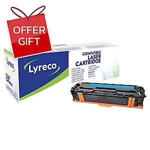 LYRECO COMPATIBLE 128A HPLASER CARTRIDGE  CE321A CYAN