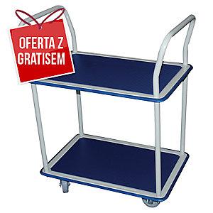 Wózek magazynowy SAFETOOL 3851 podwójny, ręczny, 250 kg