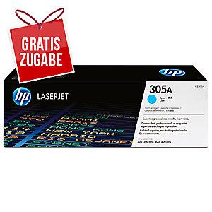 Toner HP CE411A, Reichweite: 2.600 Seiten, cyan