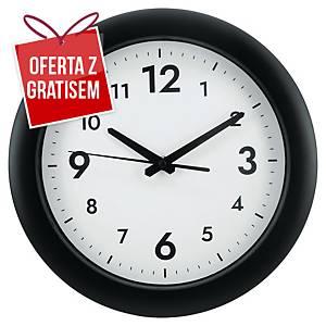 Zegar ścienny ALBA Easy Time, czarny