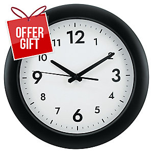 Alba Wall Clock Black