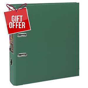 Exacompta Prem-Touch Polypropylene A4 Maxi Lever Arch File, 80mm Spine, Green