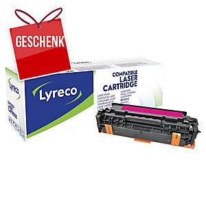 Lyreco Toner kompatibel mit HP CE413A, Reichweite: 2600 Seiten, magenta