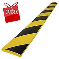 Protinárazový ochranný pás 750x60x10mm čierna/žltá
