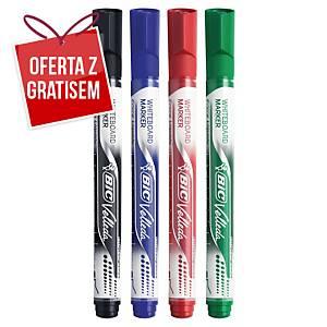 Marker suchościeralny  BIC Velleda Pocket, zestaw 4 kolorów