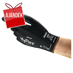 Ansell HyFlex® 48-101 többfunkciós kesztyű precíz munkákhoz, fekete, méret: 10