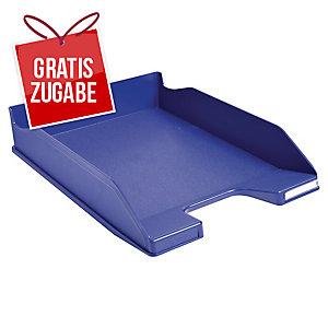 Briefkorb Exacompta 113104D Combo, stapelbar, Maße: 347 x 255 x 65mm, blau