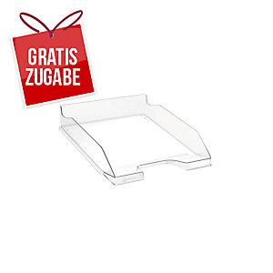 Briefkorb Exacompta 113216D Combo, stapelbar, Maße: 347 x 255 x 65mm, glasklar