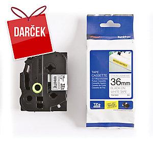 TZe-S pásky Brother, čierna / biela, 36mm x 8m