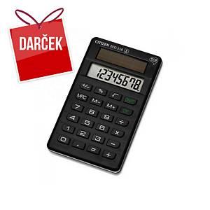 Ekologická vrecková kalkulačka Citizen ECC-110, čierna