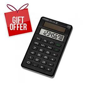 CITIZEN ECC-110 eco complete line pocket calculator