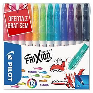 Etui 12 flamastrów wymazywalnych PILOT Frixion Colors