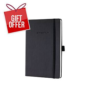 Sigel CO122 Notebook Hardcover A5 Ruled 194P Black